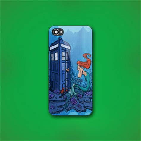 Iphone Iphone 6 Ariel Tardis 1 doctor who meets disney tardis and ariel from artcase4you on etsy