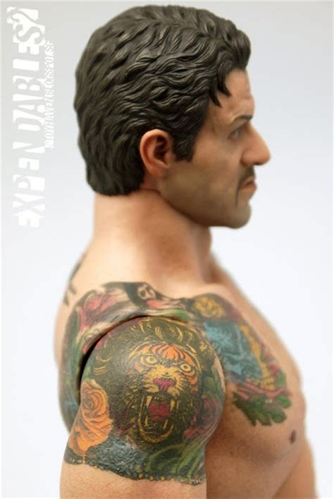 sylvester stallone tattoos toyhaven review ii toys the expendables 2 barney