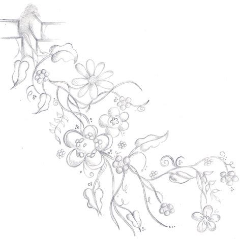 tattoo designs flowers vines flower vine design b w by scandalouscombo on
