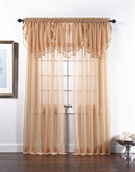 stylemaster curtains elegance voile ascot valance stylemaster usa