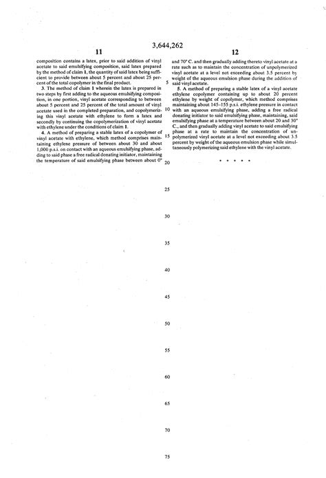 Vinyl Acetate Content - patent us3644262 process for increasing the ethylene