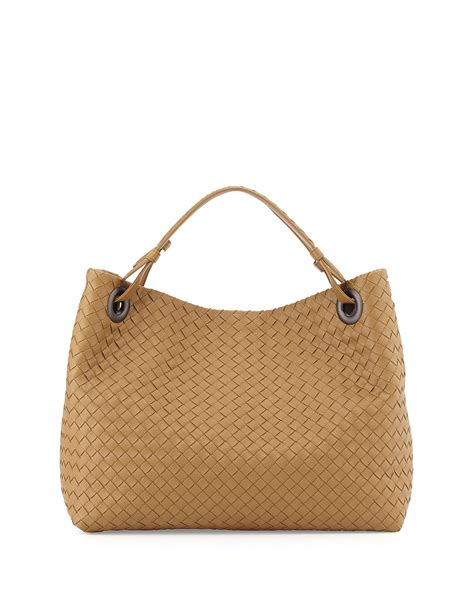 Botega Venetta Bag lyst bottega veneta medium intrecciato shoulder bag in brown