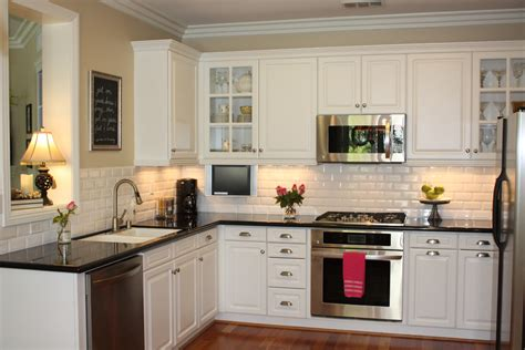 white tile backsplash kitchen dress your kitchen in style with some white subway tiles