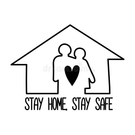 Stay Home Stay Safe Cartoon Pictures