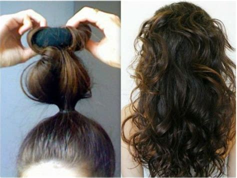 easy sock bun curls 158 best images about no heat waves curls on