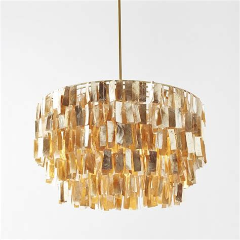 Gold Capiz Chandelier Capiz Chandelier Gold West Elm