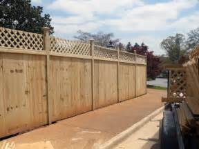 Fence Styles Wood Post Driven Plywood Temporary Fence