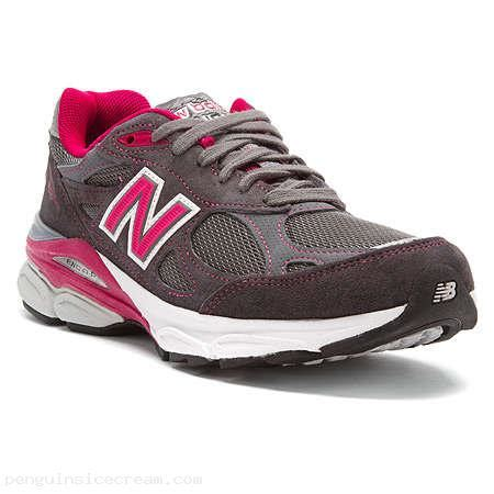 new balance w990v3 luftc running shoes in grey pink ribbon mekn1shf mekn1shf 60 04 sale