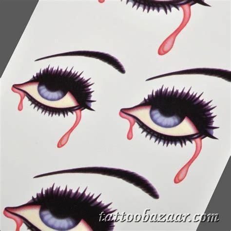 tattoo girl bleeding eyes bleeding eye pattern tattoo paper sticker black red