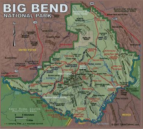 big bend national park texas map cook lowery15 bb s map of the park