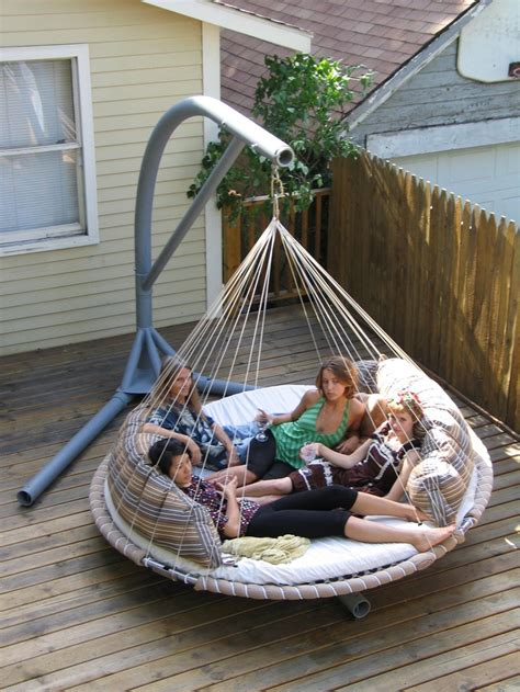Hammock Swing Bed by Portable Stand For Floating Bed An Naps Up No Problem