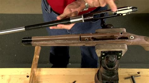 glass bedding gunsmithing how to glass bed a rifle stock presented by larry potterfield of