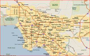 map of los angeles los angeles maps mapsof net