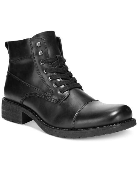 alfani boots alfani s dean utility boots in black lyst