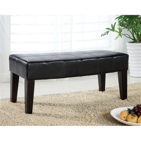 bench with padded seat bury espresso bench with padded leatherette seat