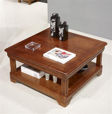 table basse salon merisier table basse carr 233 e en merisier de style louis philippe meuble en merisier