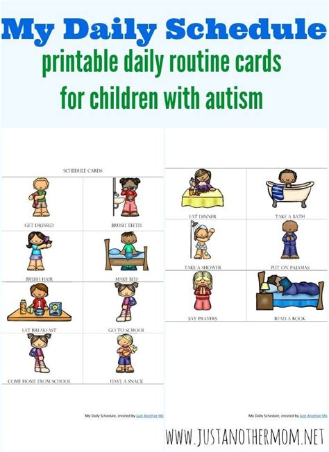 printable daily schedule for adhd child if you re looking to support your autistic child at home