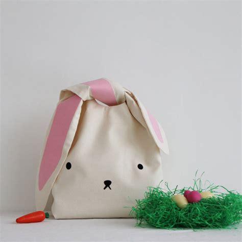 Bunny Ears Bag Rabbit easter egg hunt bunny bag by minna s room notonthehighstreet
