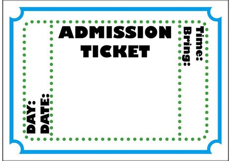 admission ticket template kdc vbs pinterest