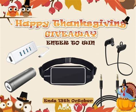 Giveaway Canada - aukey canada thanksgiving giveaway win an aukey prize pack