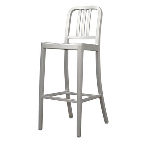 brushed metal bar stools modern cafe bar stool in brushed aluminum by wholesale