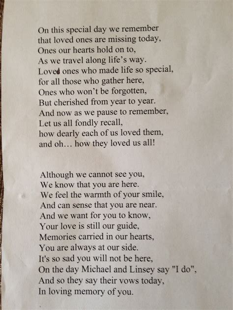 funeral poems memorial poems to read at a funeral free remembrance poem read out by me at son s wedding in