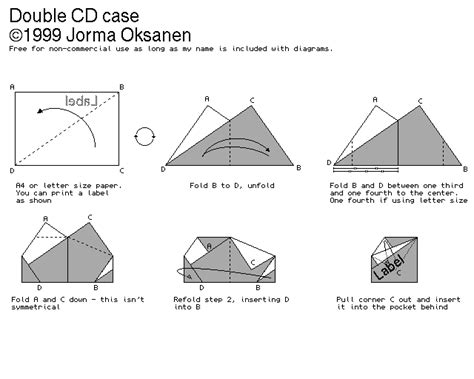 How To Make A Cd Cover With Paper - debian origami cd cases nano