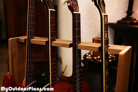 diy basic multi guitar stand myoutdoorplans