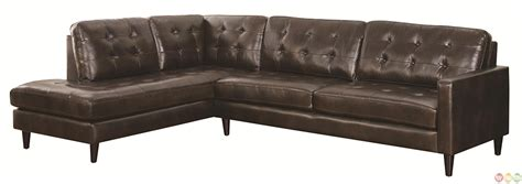 contemporary button tufted sectional sofa with chaise