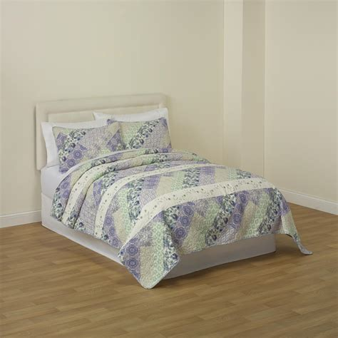 Kmart Quilts Sets by Cannon Giana 3 Cotton Quilt Set Cozy Styles At Kmart