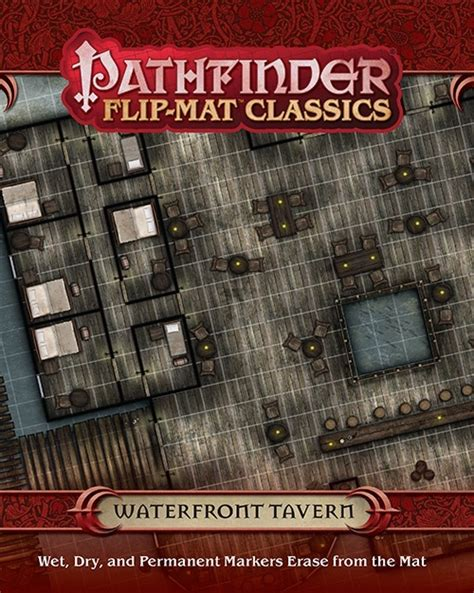 starfinder flip mat starship books pathfinder flip mat classics waterfront tavern black