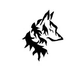 tribal wolf head by animewolveslover on deviantart