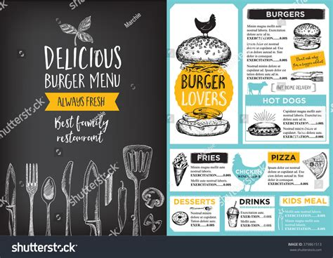 restaurant flyer design vector restaurant brochure vector menu design vector cafe