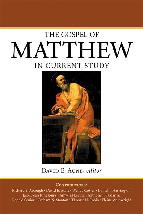 the gospel of matthew through new volume one jesus as israel books the gospel of matthew in current study david e aune