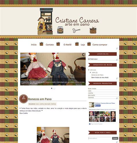 layout para blog html layout para blog de artesanato cristiane carrera
