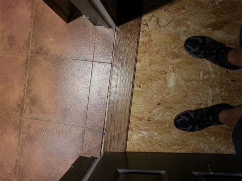 Wood To Travertine Tile Transition   Flooring   DIY