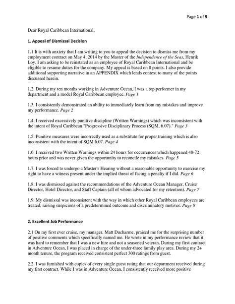 Appeal Letter Unfair Dismissal Sle appeal letter on unfair dismissal 28 images letter of