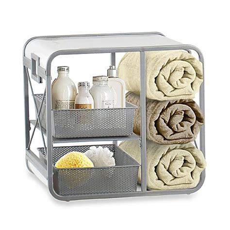 bathroom cube storage x cube bath storage unit bed bath beyond