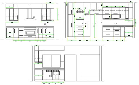kitchen details and design interior kitchen dwg