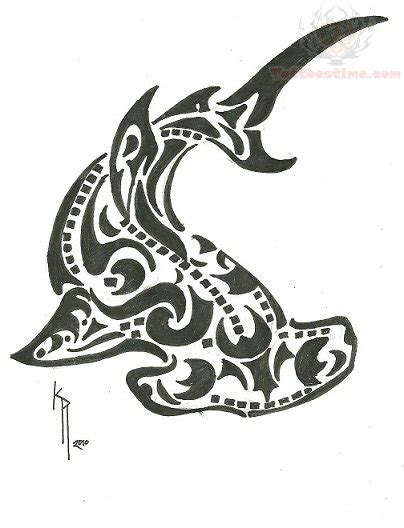 tribal hammerhead tattoo cool tribal hammerhead shark design
