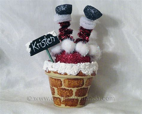 santa chimney place setting crafts by amanda