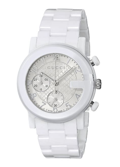 gucci s ya101353 g chrono chronograph white ceramic