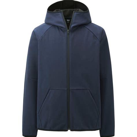 Sweater Half Zipper Arsenal Blue 3rd uniqlo wind proof sleeve zip hoodie in blue for navy lyst