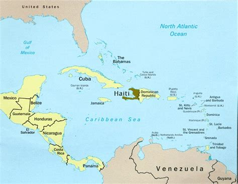 where is haiti on a world map geographical location of haiti