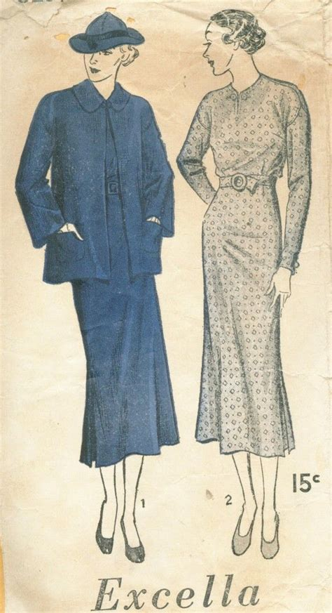 dress pattern exle 48 best images about 1930s excella sewing patterns on