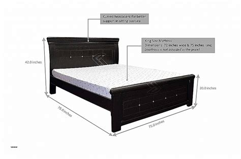 king bed size inches bed frames new bed frame sizes in inches high definition