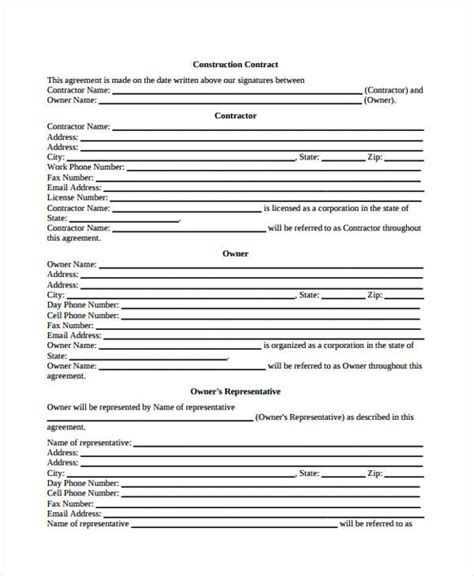 business agreement form business agreement form template