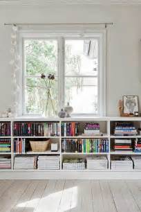 Low Bookcase Under Window Space Saving Book Shelves And Reading Rooms Space Space