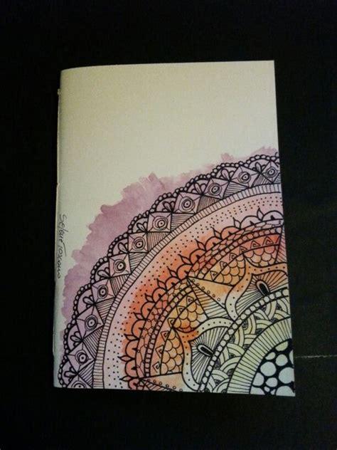 design notebook illustrated notebook cover zentangle design diy notebook