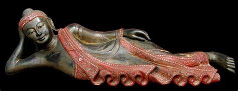Reclining Buddha Myanmar by Antique Burmese Reclining Buddha